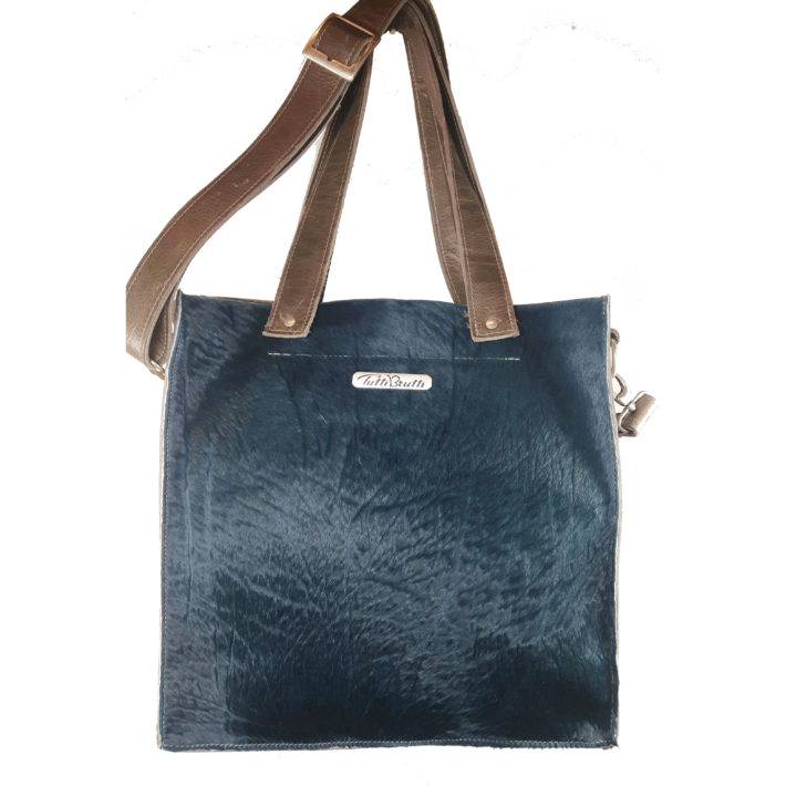 shopper in petrol blauw